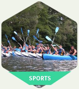 Activités sportives au centre de vacances